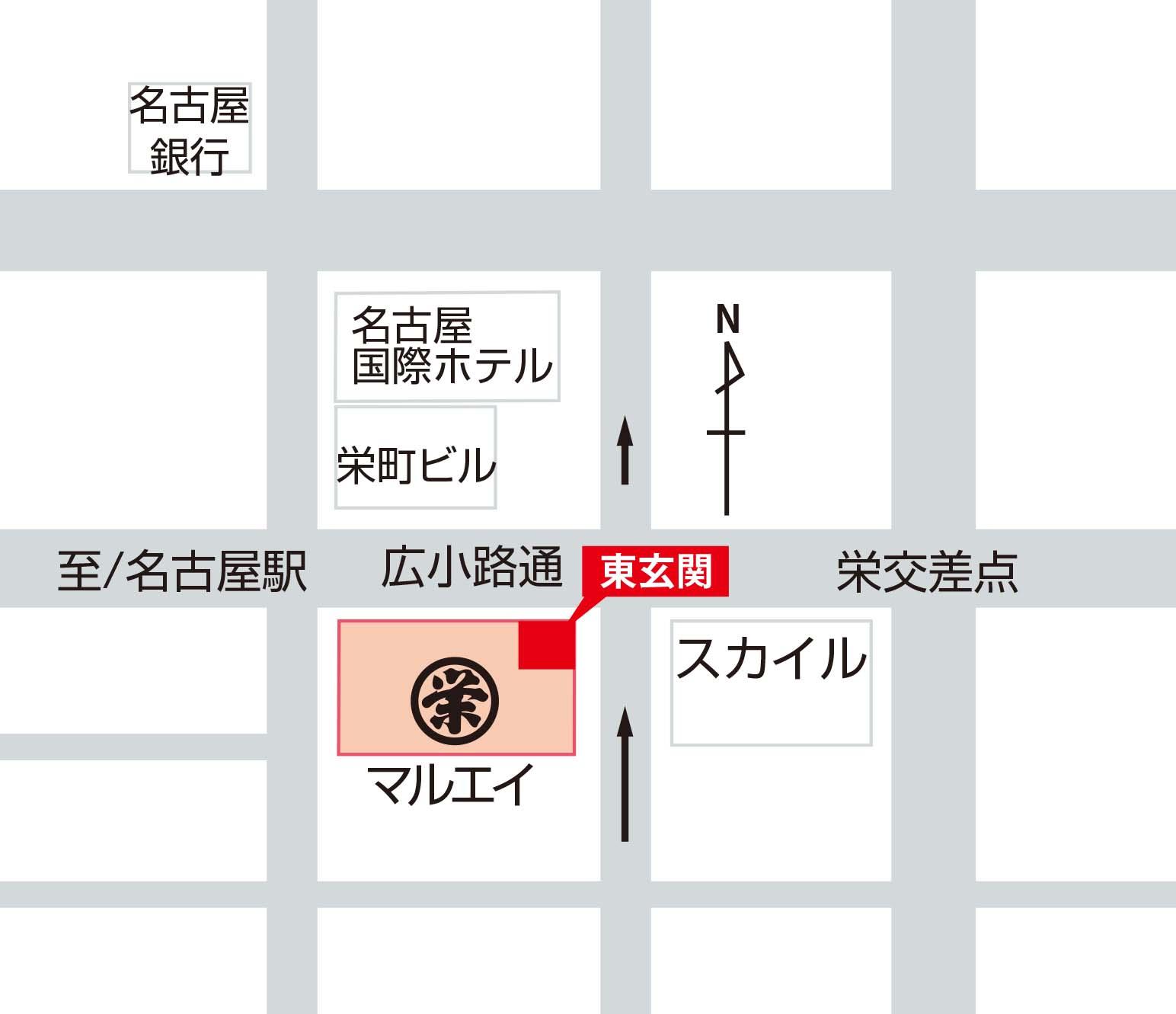 名古屋会場集合場所マップ